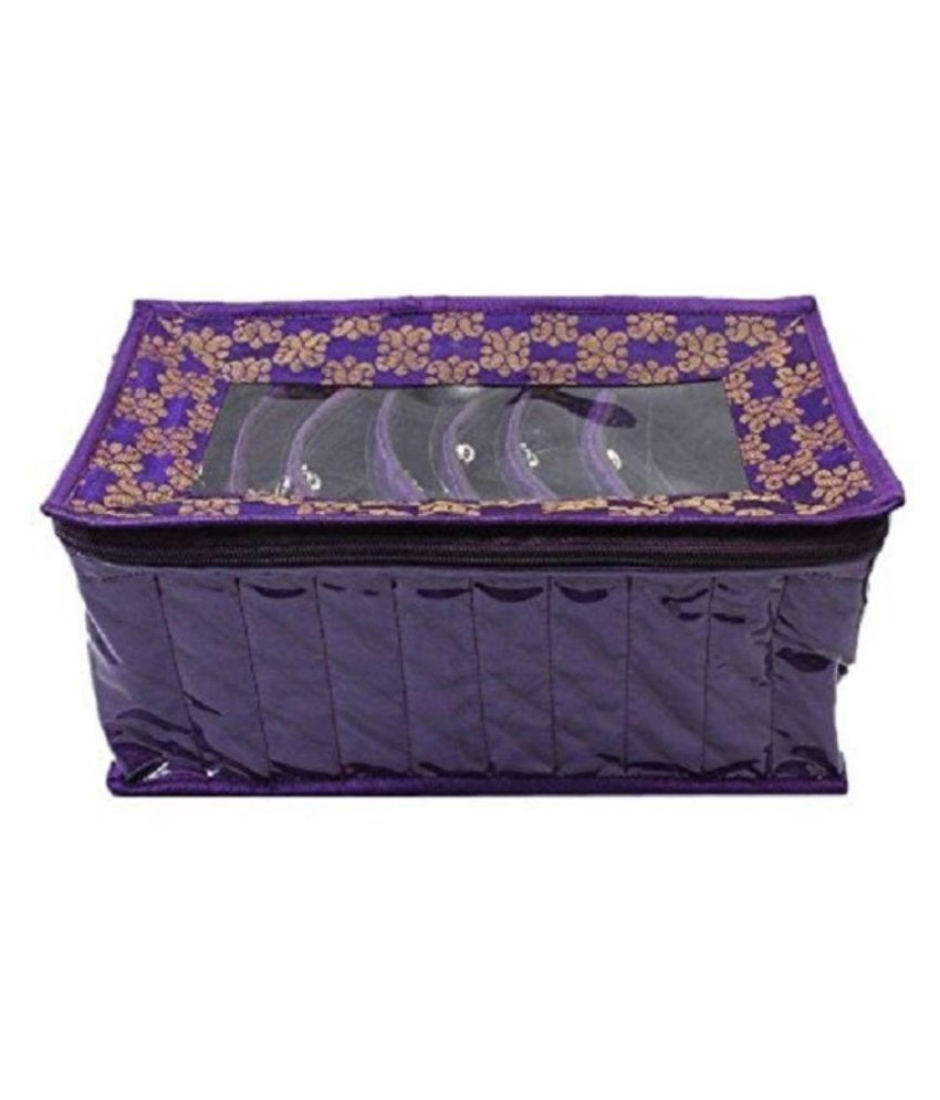 Kuber Industries Fabric Purple Jewellery Box