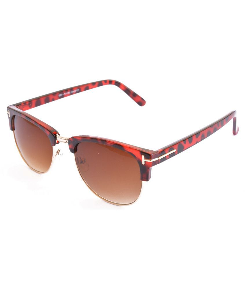 Pumawrap Brown Wayfarer Sunglasses ( HalfRim )