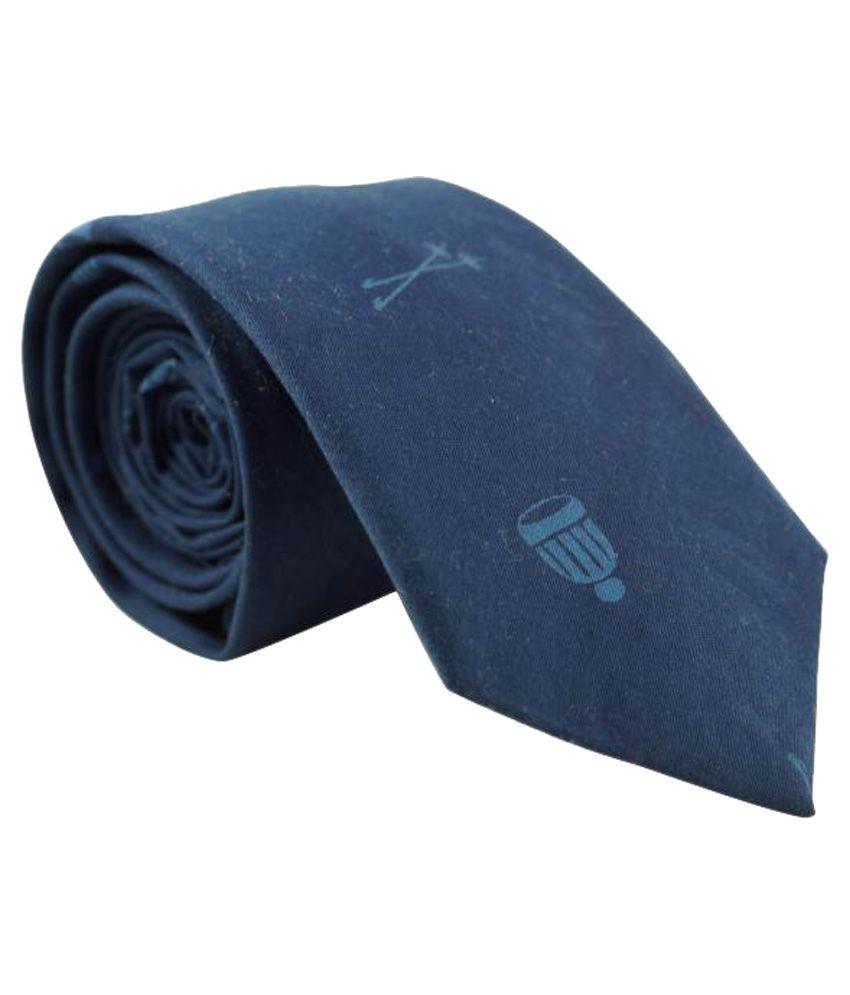 The Tie Hub Blue Micro Fiber Skinny Tie