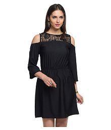 At499 Black Polyester Dresses