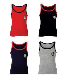 Bodycare Disney Printed Boys Vest Pack of 4