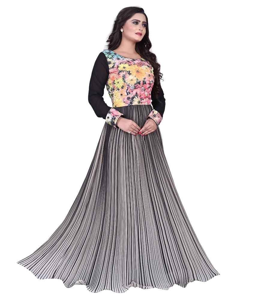 Exclusive Designer Multi Color Cotton Gowns - Buy Exclusive Designer ...