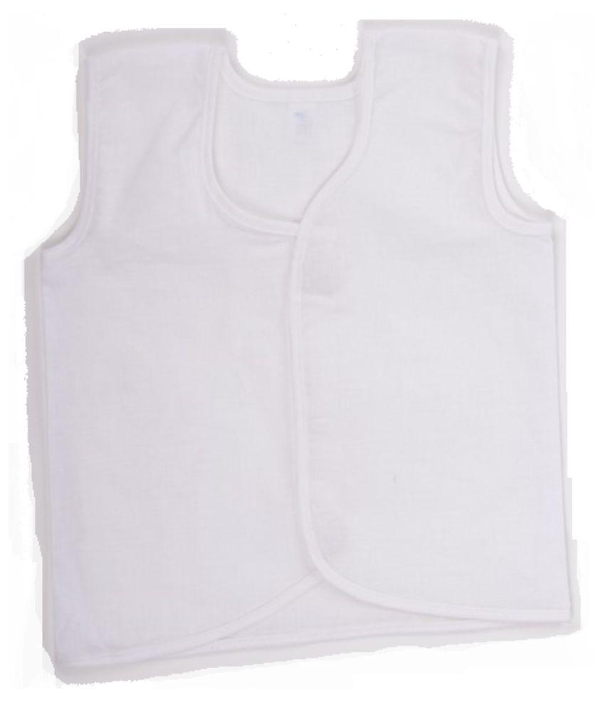 HK Baby White Cotton Shirt - Pack of 3