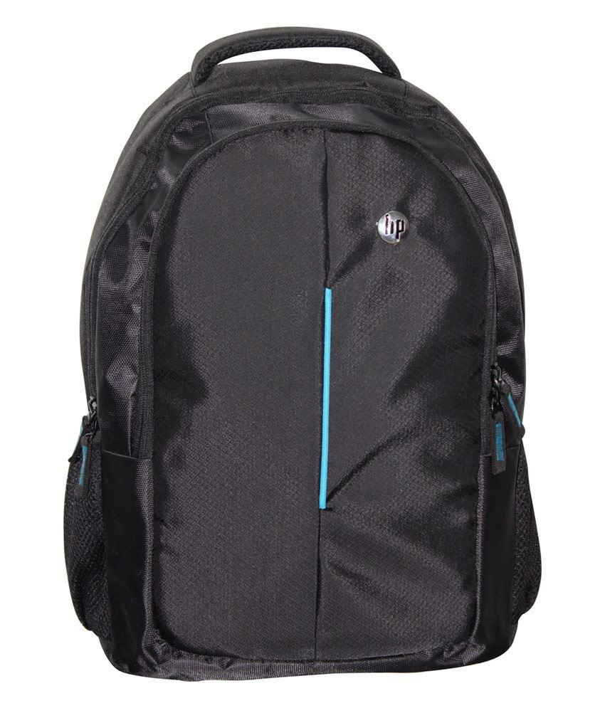 HP Black Synthetic Laptop Backpack