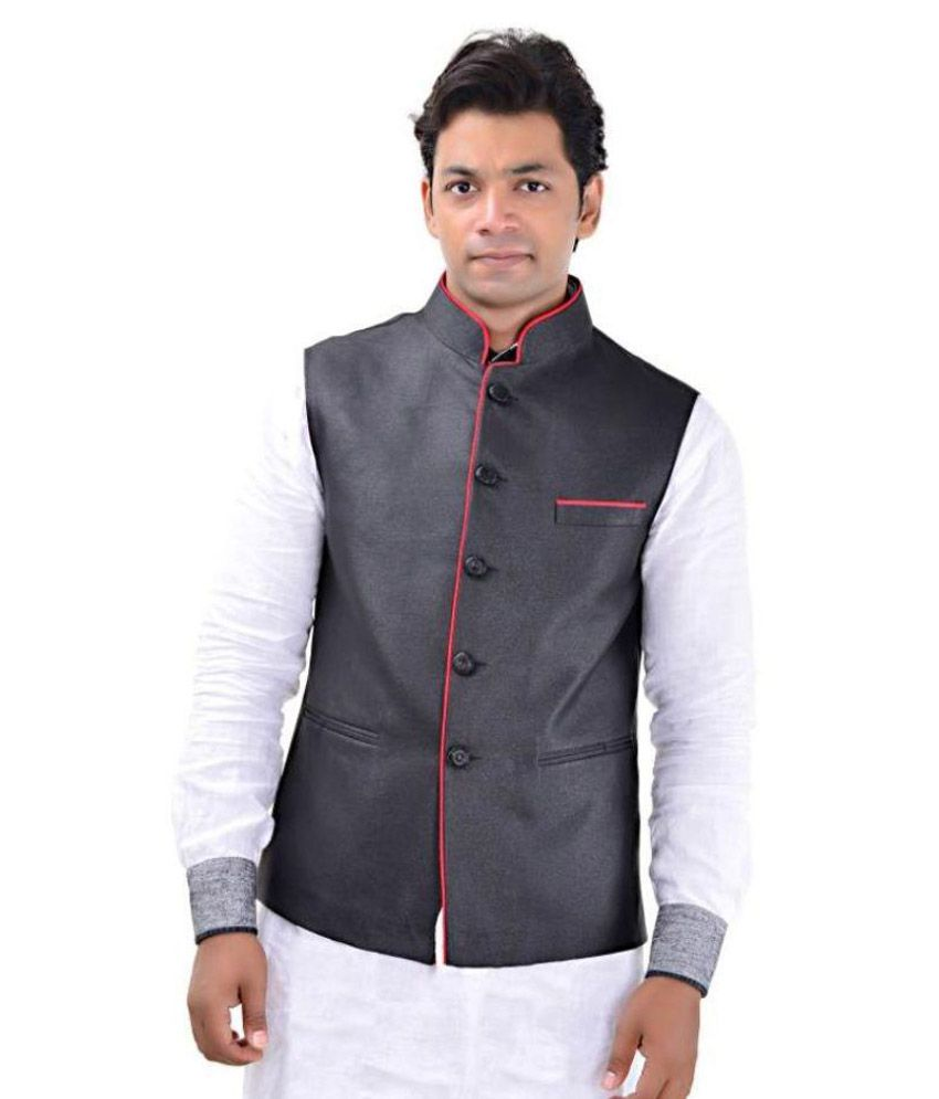 MD Fashion Black Casual Waistcoats