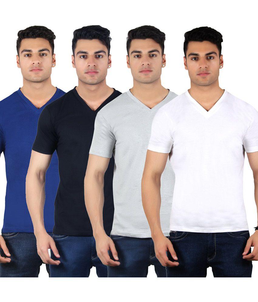 Diaz Multi V-Neck T Shirt Pack of 4