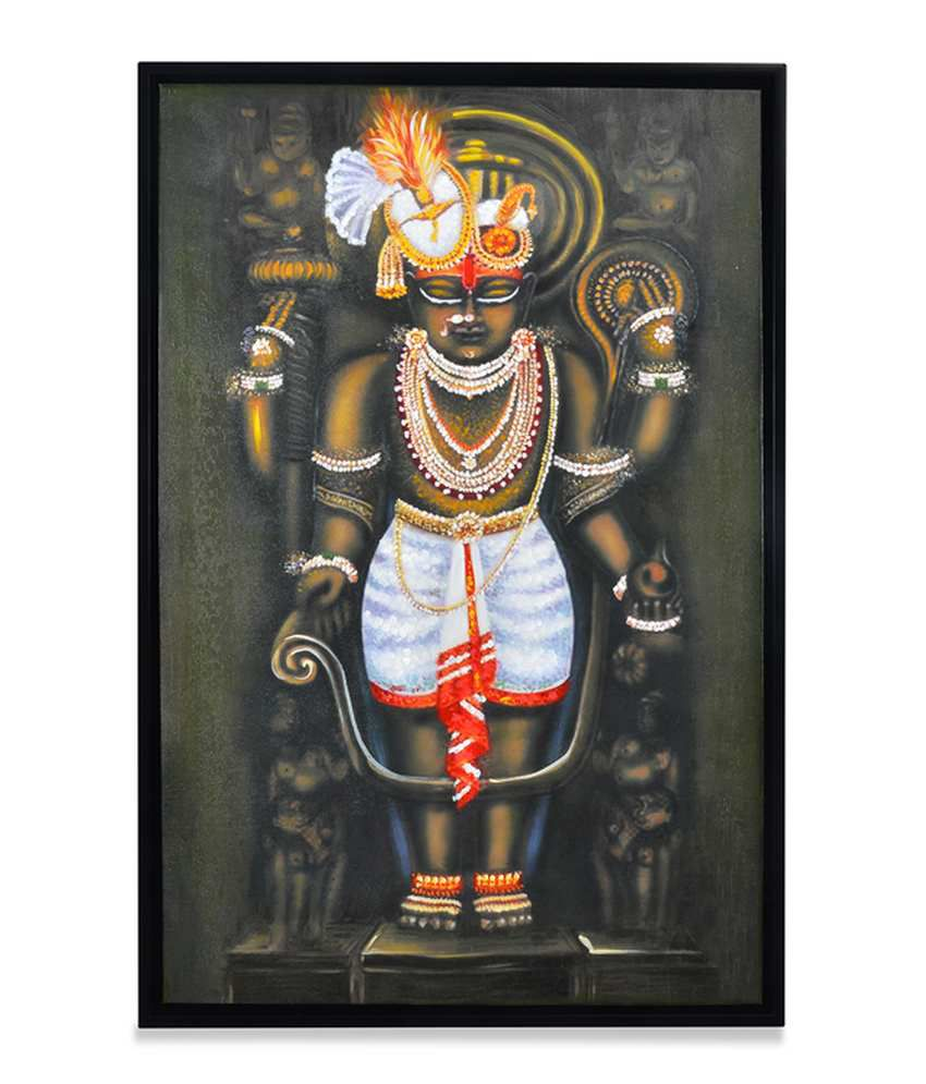 @Home by Nilkamal  Wood Shree Nathji Religious Paintings