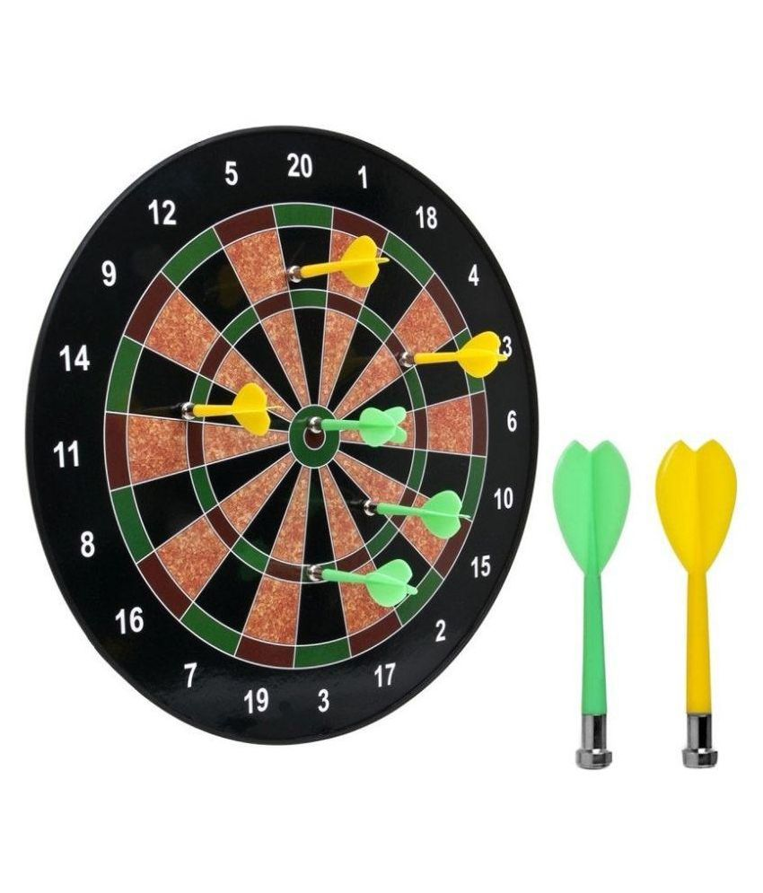 Krypton Multicolor Magnetic Dart Board With Darts  - 6 Pcs