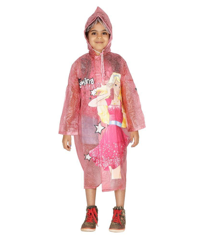 Zeel Pink Viscose Rainwear