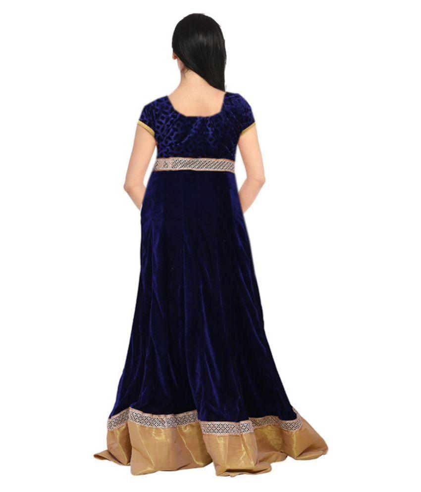 sandhya\'s Navy Velvet Gowns - Buy sandhya\'s Navy Velvet Gowns Online ...