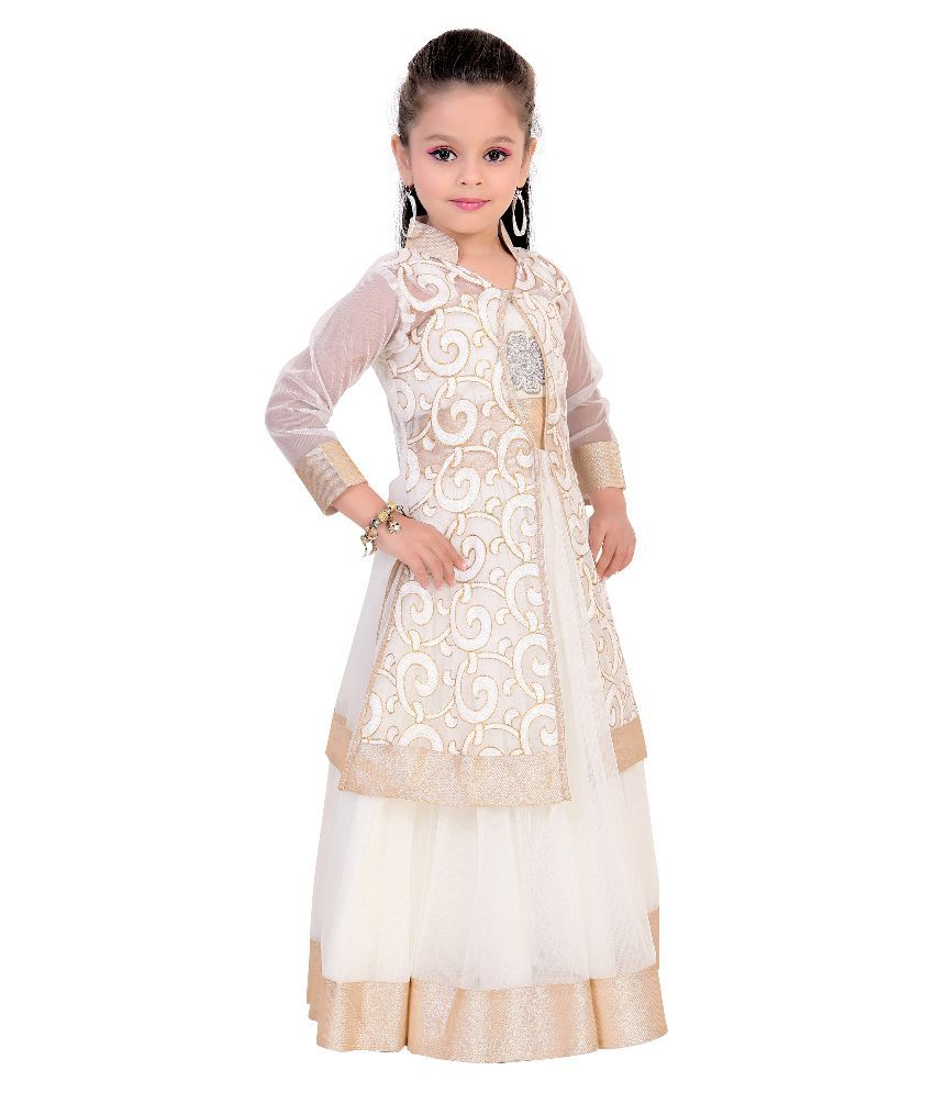 3b01b94ee04 Fusion India White Gown - Buy Fusion India White Gown Online at Low ...