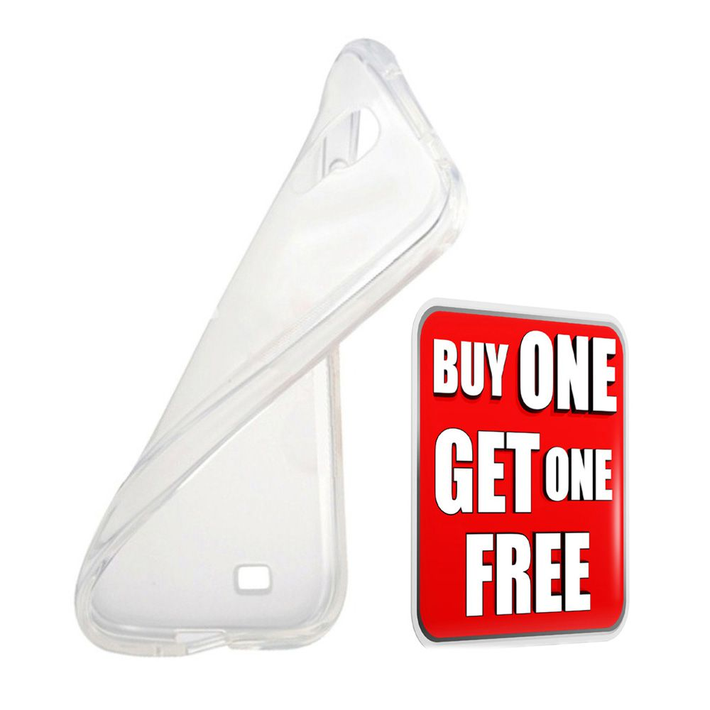 Go Crazzy ( Buy One Get one Free) Silicon TPU Transparent Soft Back Cover  For Lenovo Vibe P1