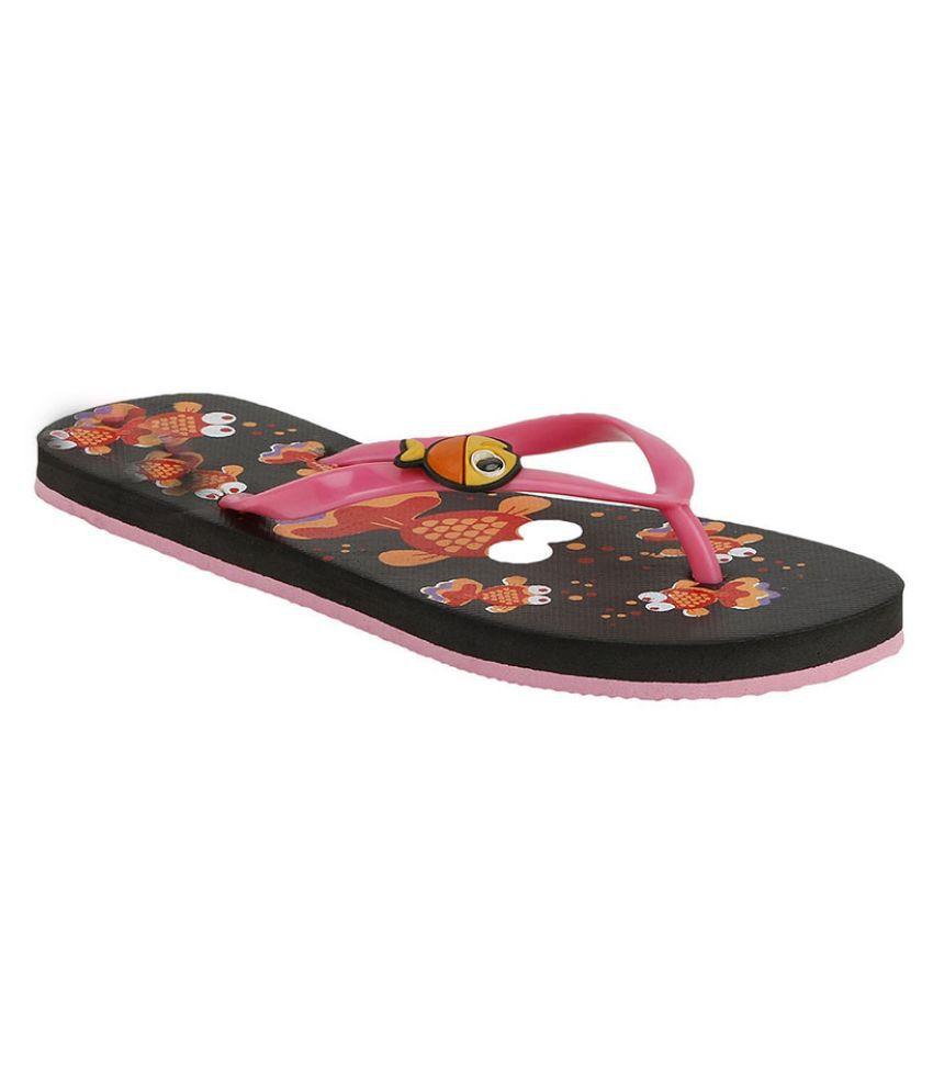 Shoe Lab Pink Flip Flops
