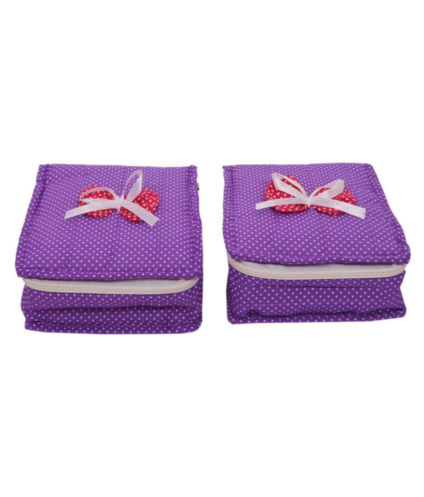 Hanu Enterprises Purple Jewellery Organizer