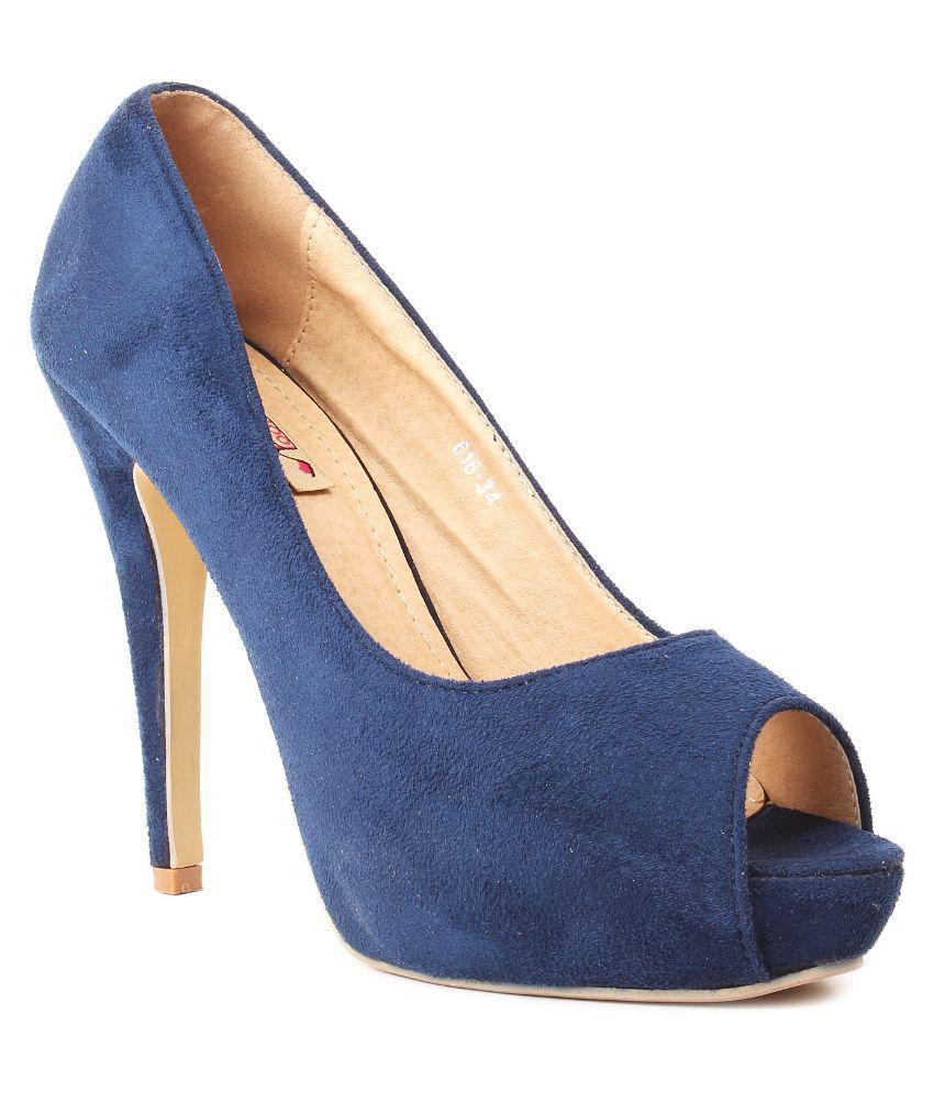 Foot Candy Blue Stiletto Heels