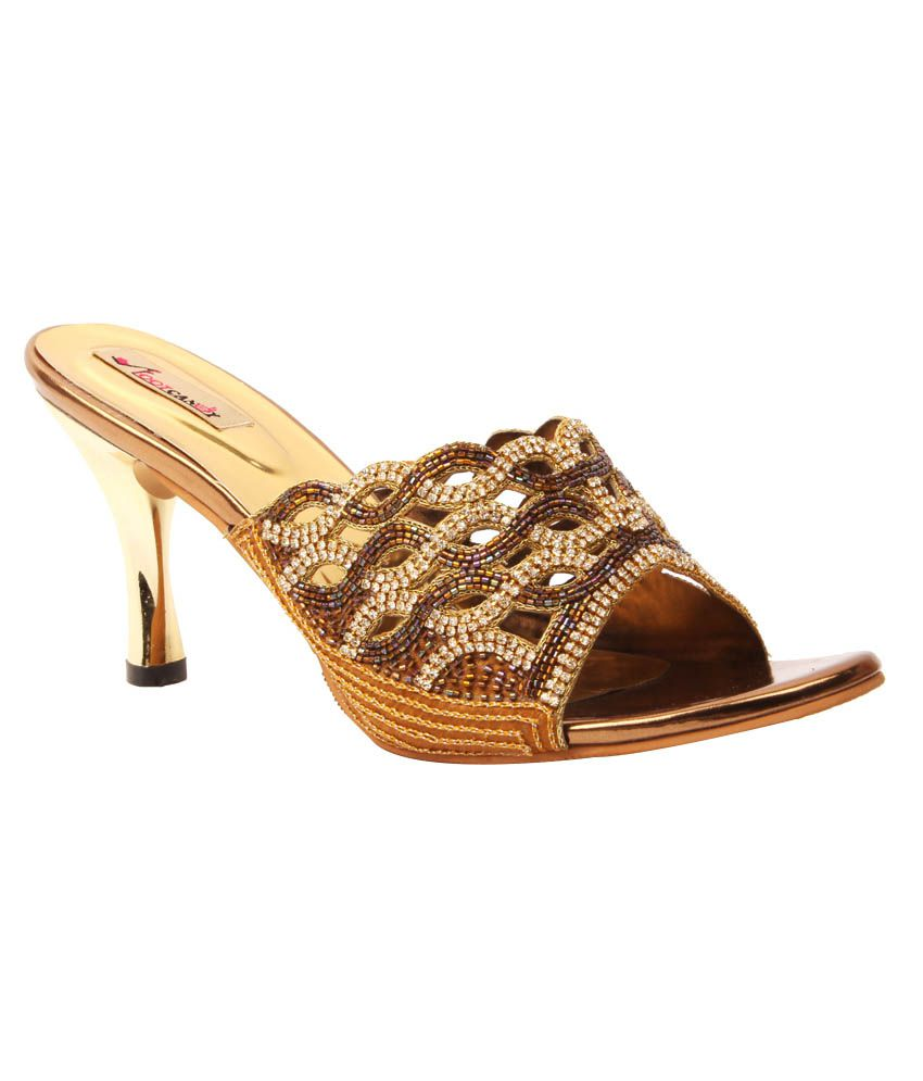 Foot Candy GoldenRod Cone Heels