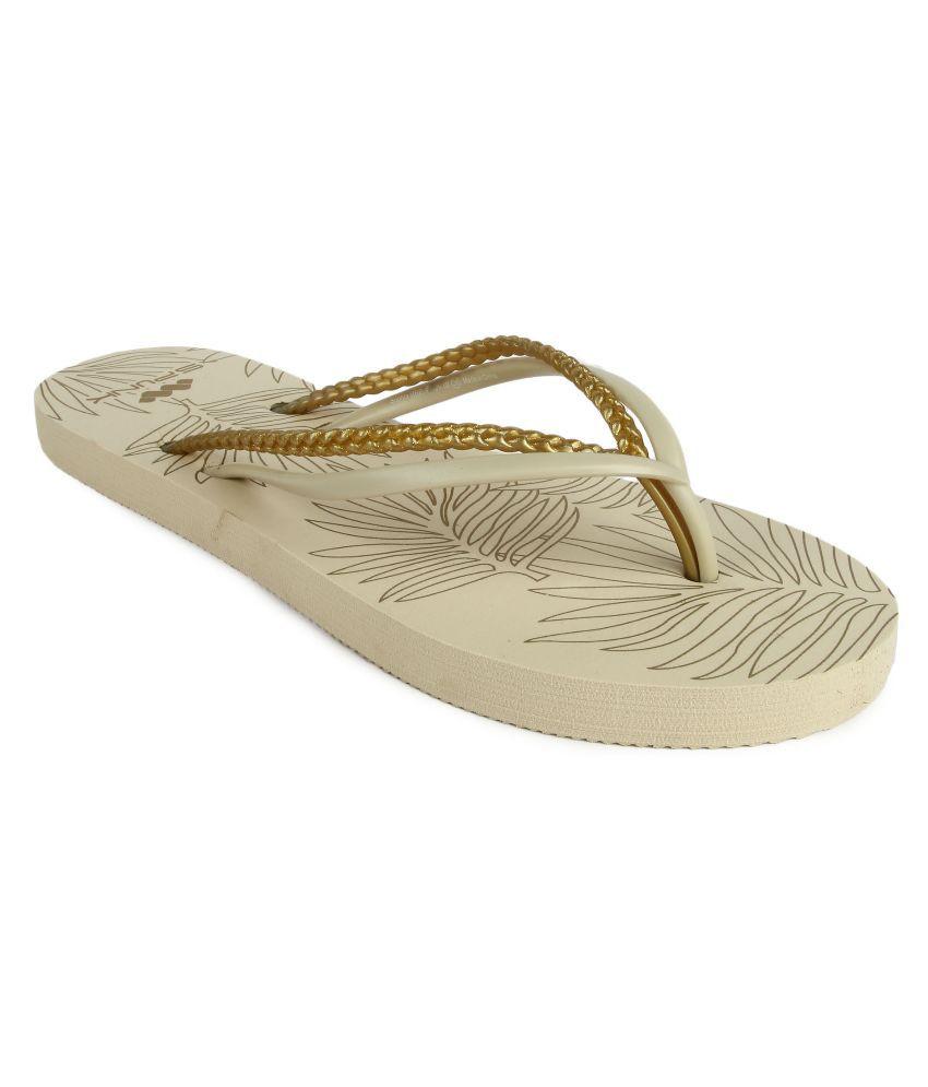 Spunk Gold Flip Flops