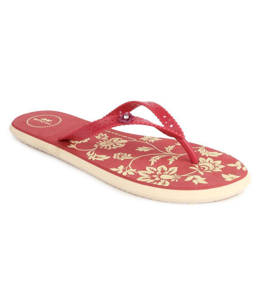 Spunk Red Flip Flops
