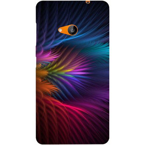 best website 19fb2 81e2a Casotec Colorful Flower Design Hard Back Case Cover for Microsoft Lumia 535