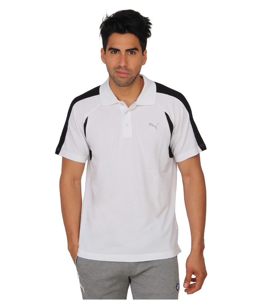 Puma White Polo T Shirts