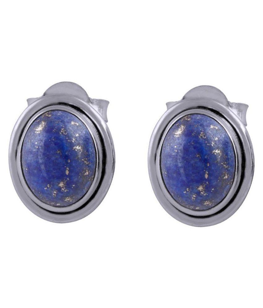 Silver Prince 92.5 Silver Lapiz Lazuli Studs