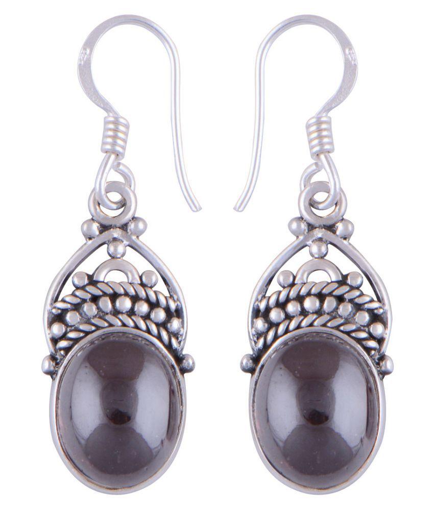 Silver Prince 92.5 Silver Garnet Drops