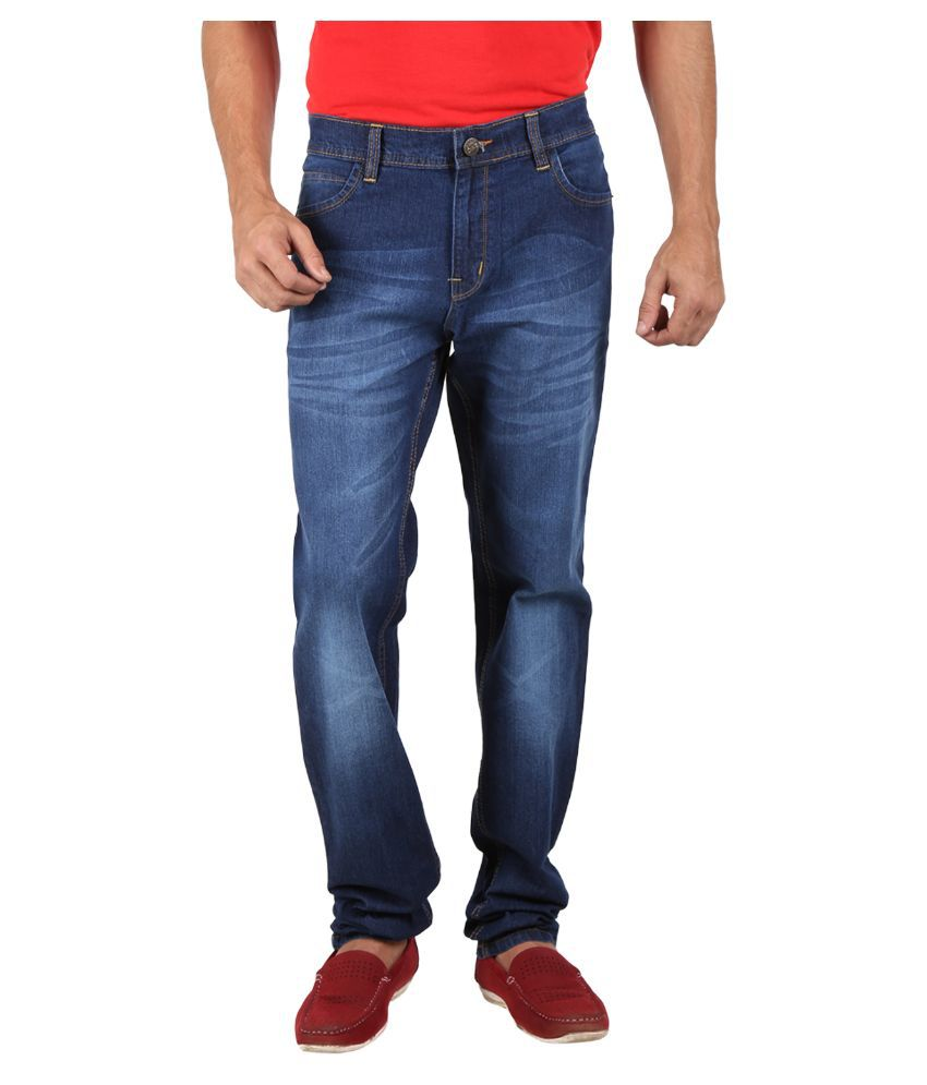 SN'C Blue Regular Fit Faded Jeans