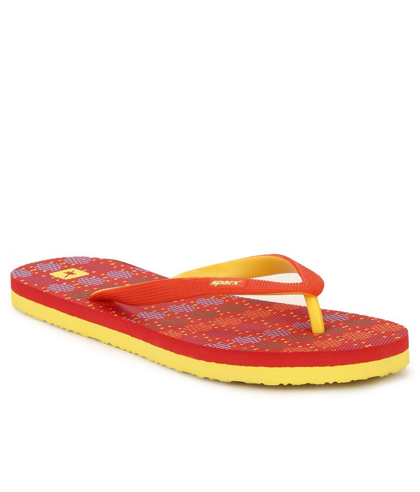 Sparx Red Flip Flops