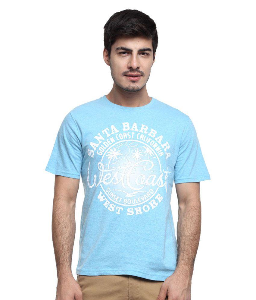 O.H.M Blue Round T Shirt