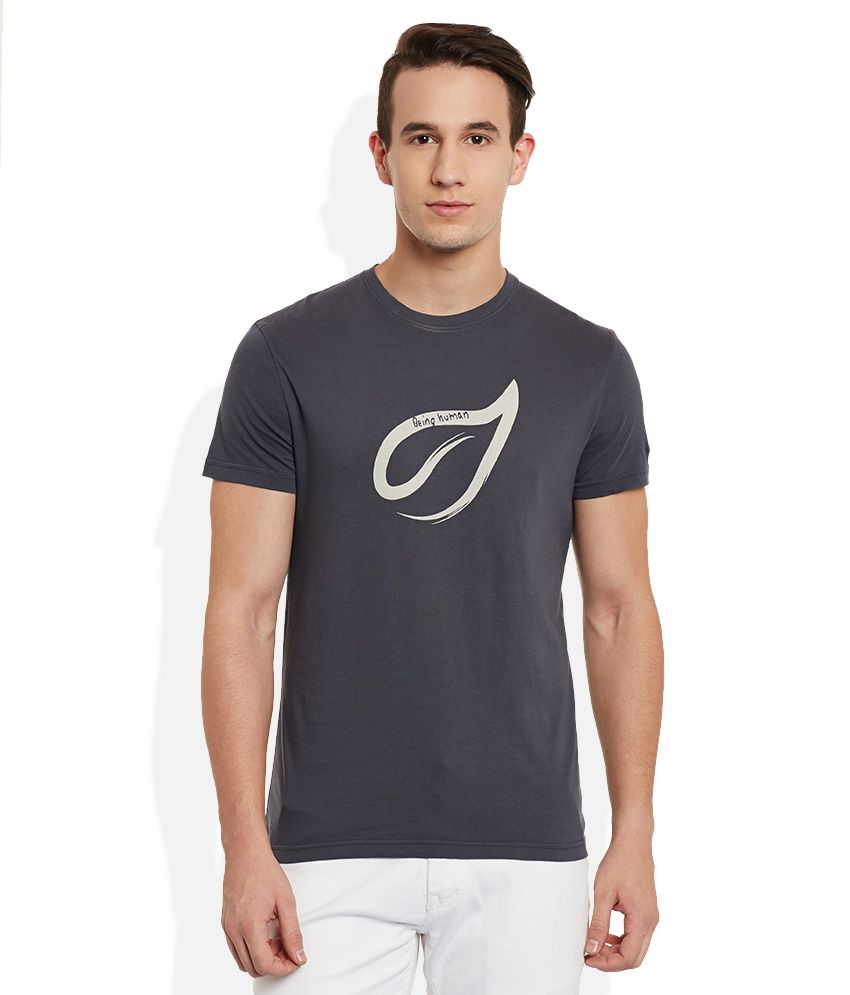Being Human Grey Round Neck T Shirt