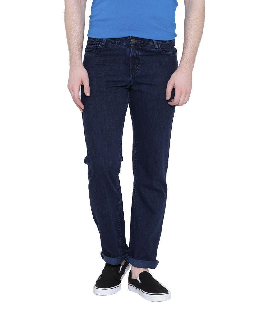 Hubberholme Navy Slim Fit Solid Jeans
