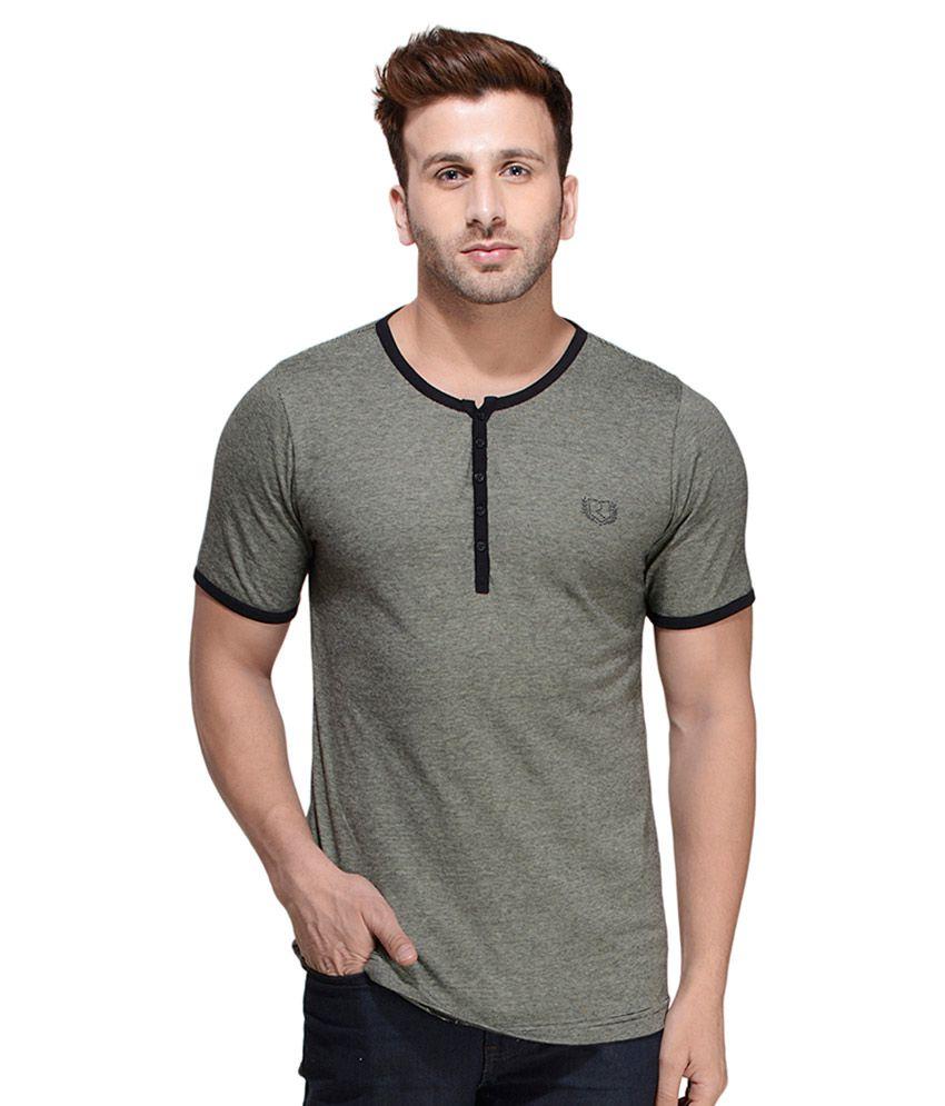 Rigo Grey Henley T Shirt