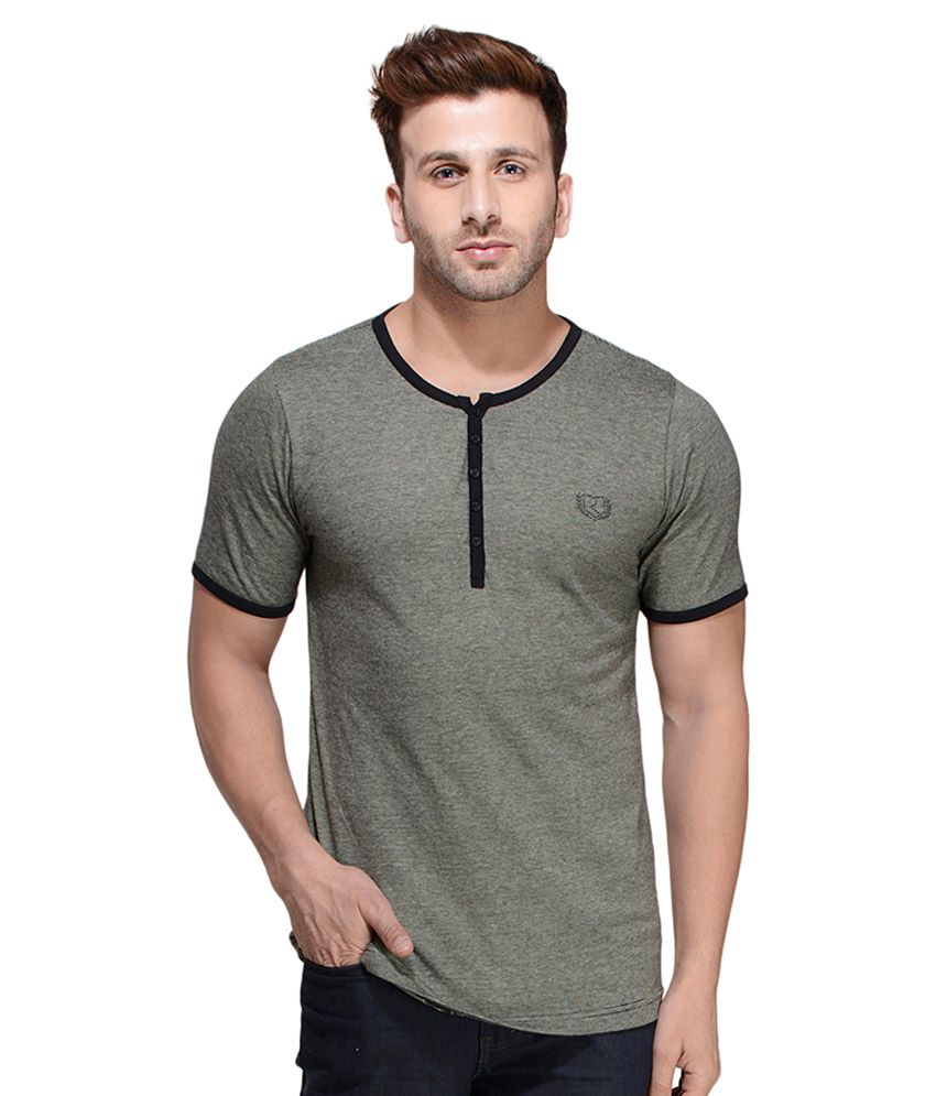 Rigo Grey Henley T Shirt
