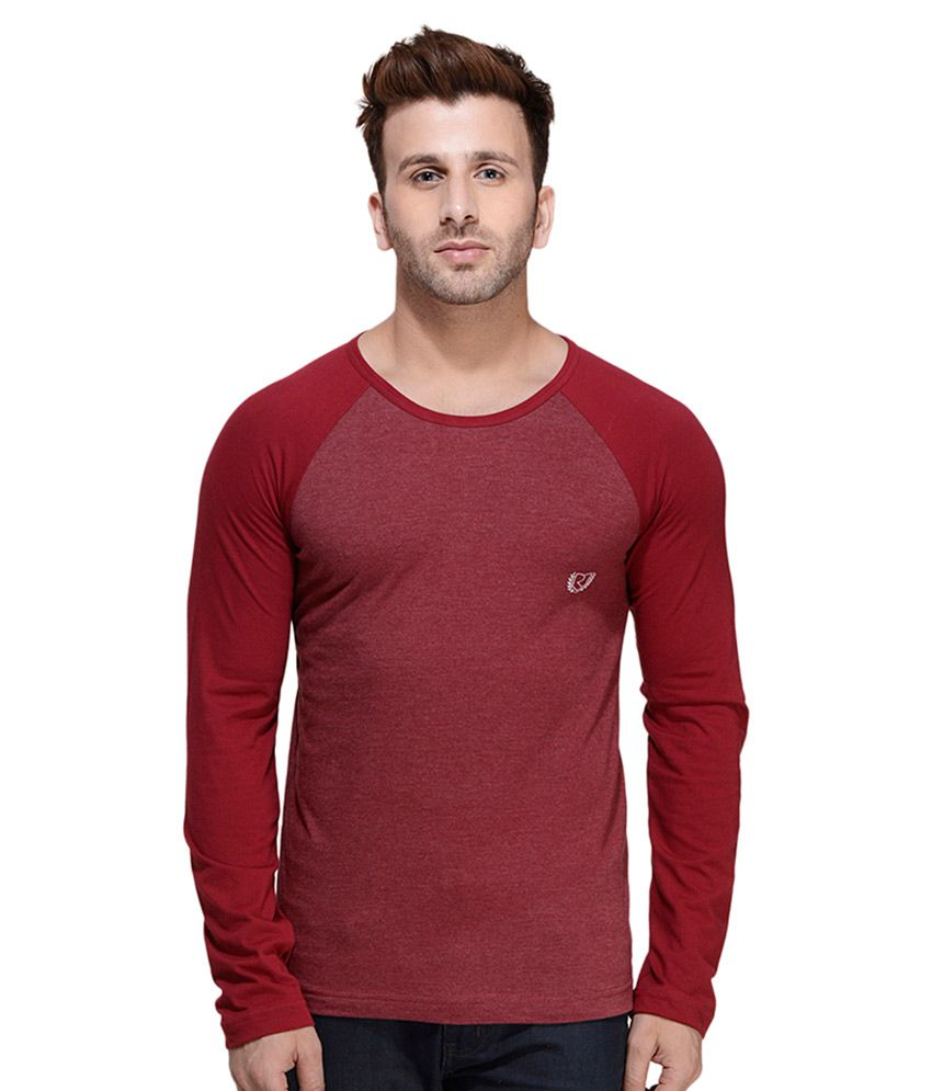 Rigo Maroon Round T Shirt