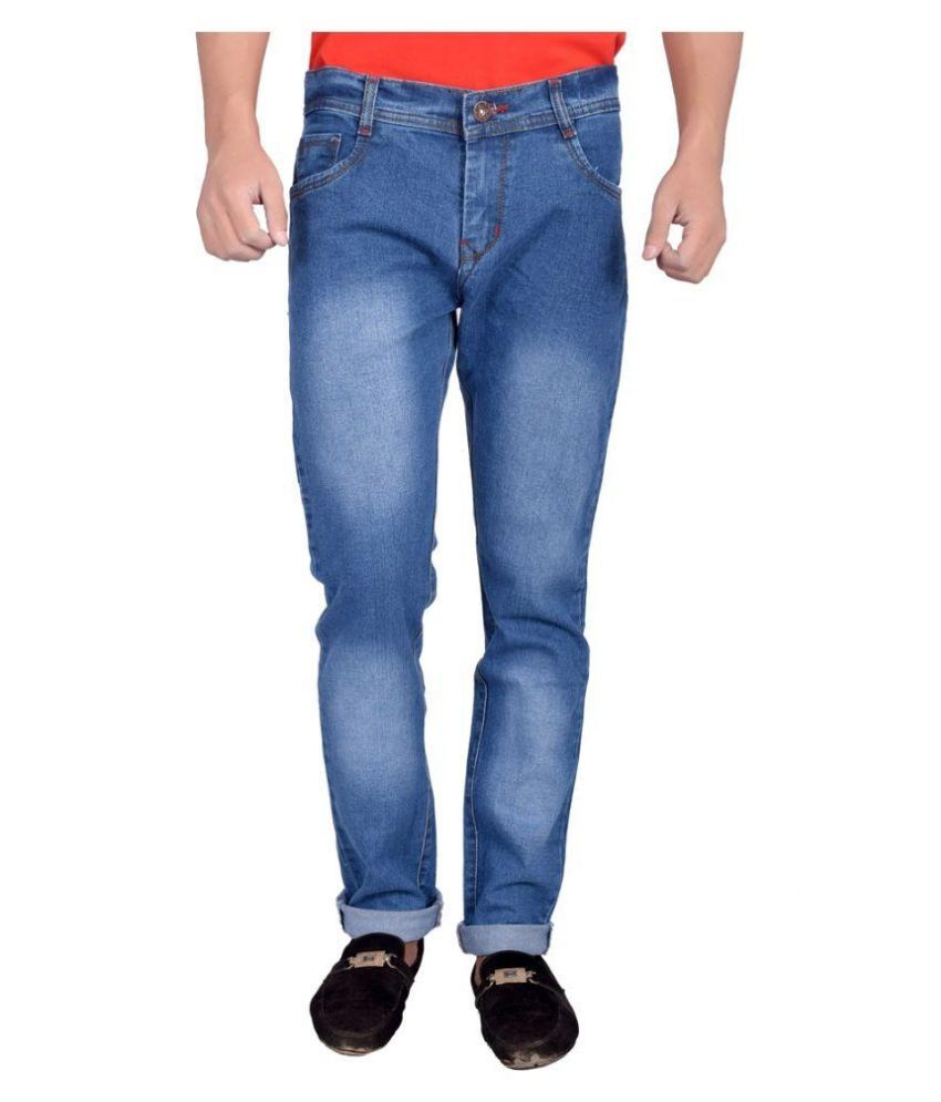 Won99 Blue Slim Fit Faded Jeans