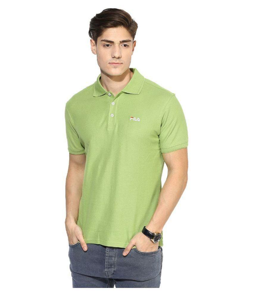 Fila Green Polo T Shirts