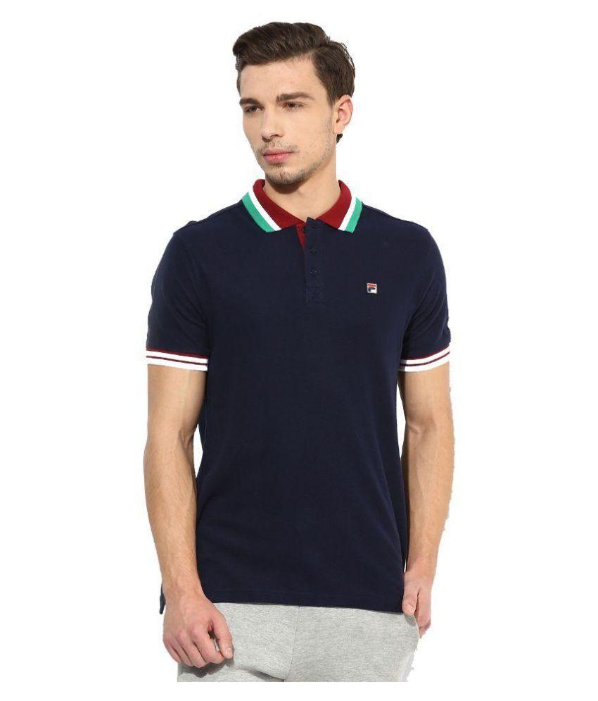 Fila Navy Polo T Shirt