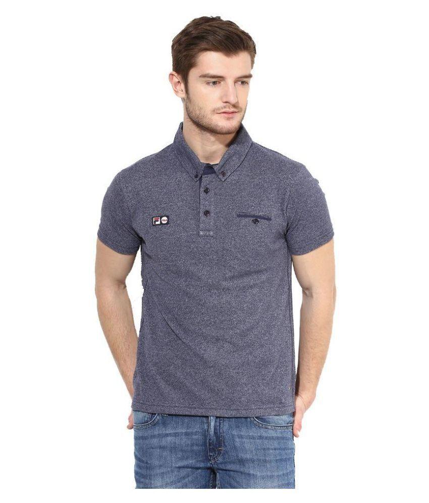 Fila Navy Polo T Shirts