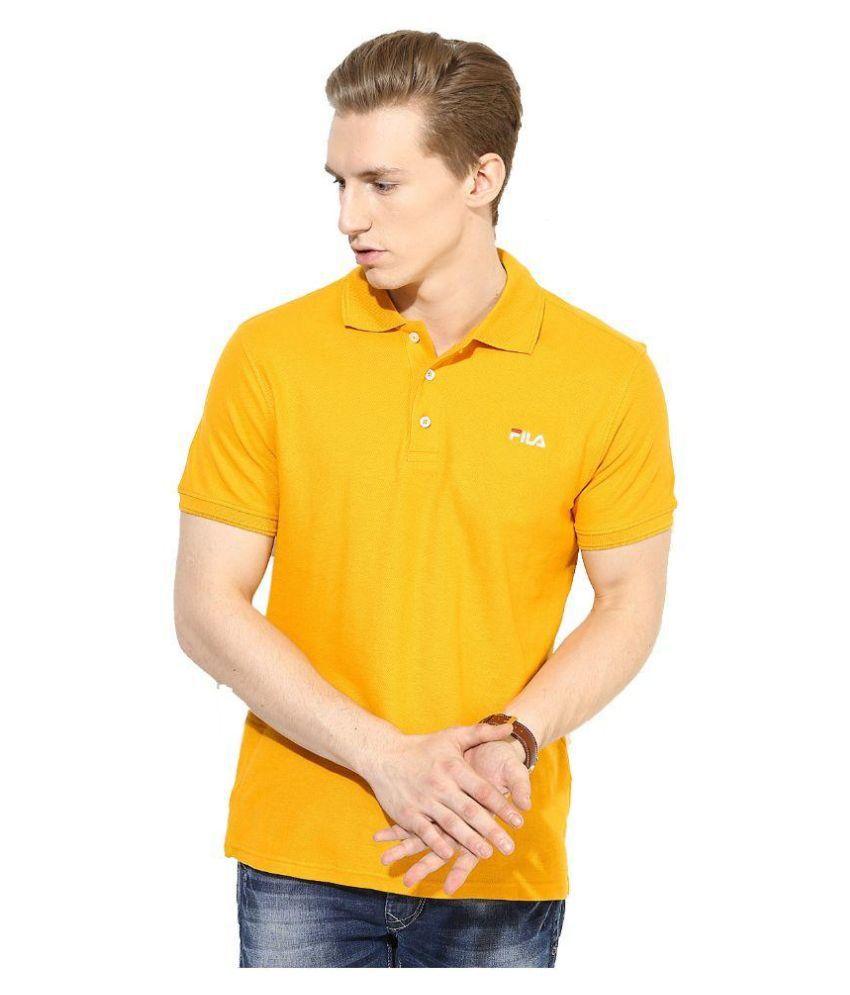 Fila Yellow Polo T Shirts