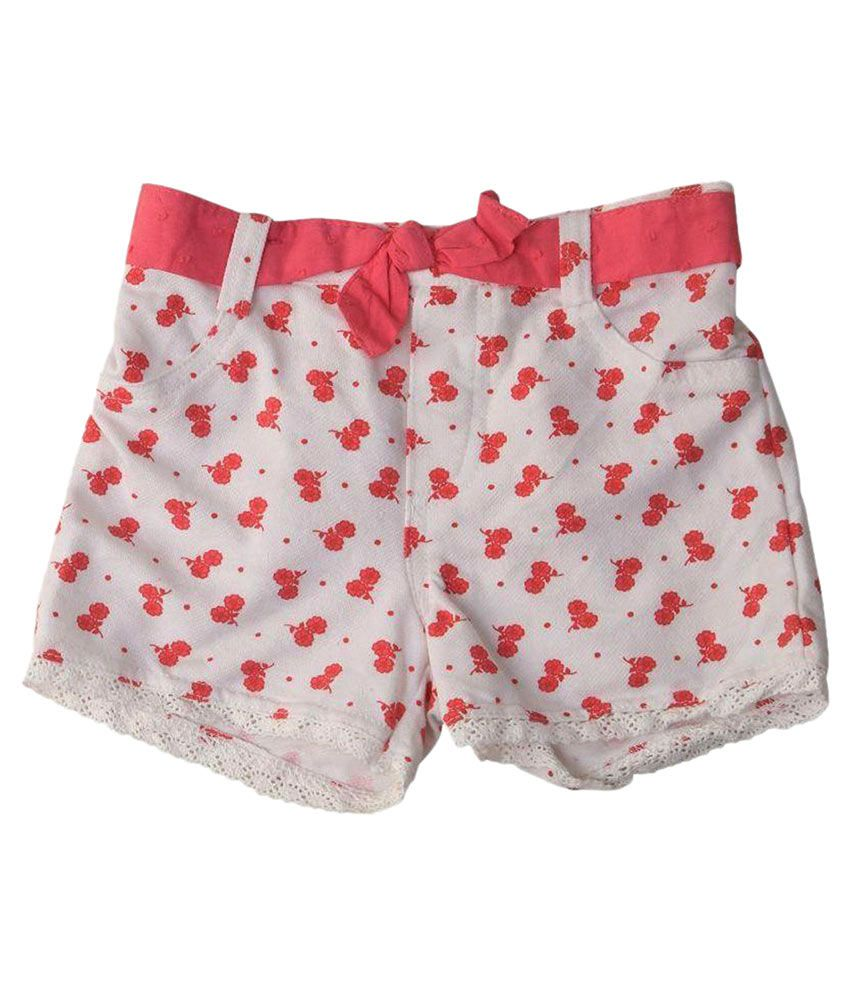 Innocent KidS White Cotton Shorts