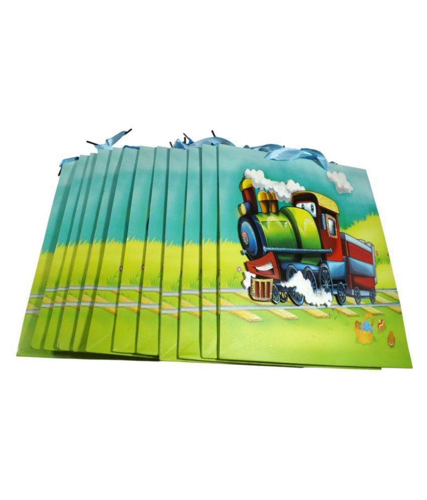 Manbhari Multi Color Shopping Bags - Set of 12 Pcs