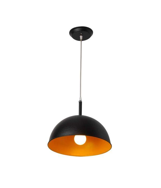 LeArc Designer Lighting Black Aluminium Pendant Single