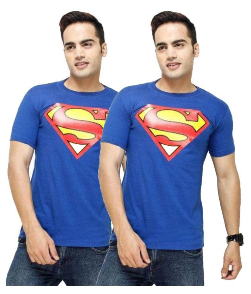 Trends Fashion Blue Round T Shirt Pack of 2