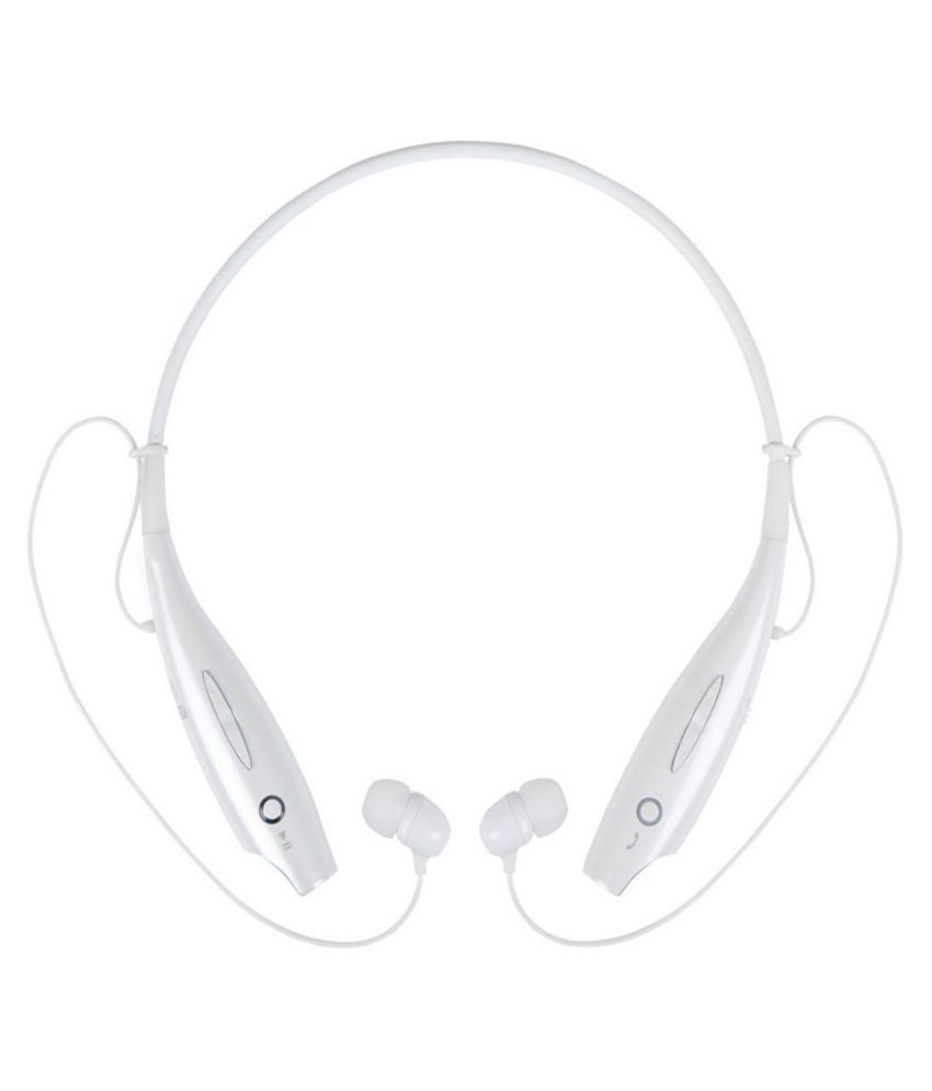 Dashmesh Cases TONE730 In-the-ear Wireless Bluetooth Headset With Mic - White