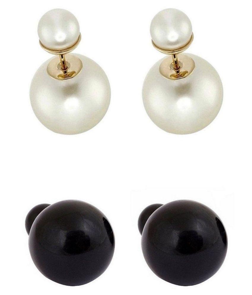 Jewels Gehna Multicolor Stud Earrings - Set of 2
