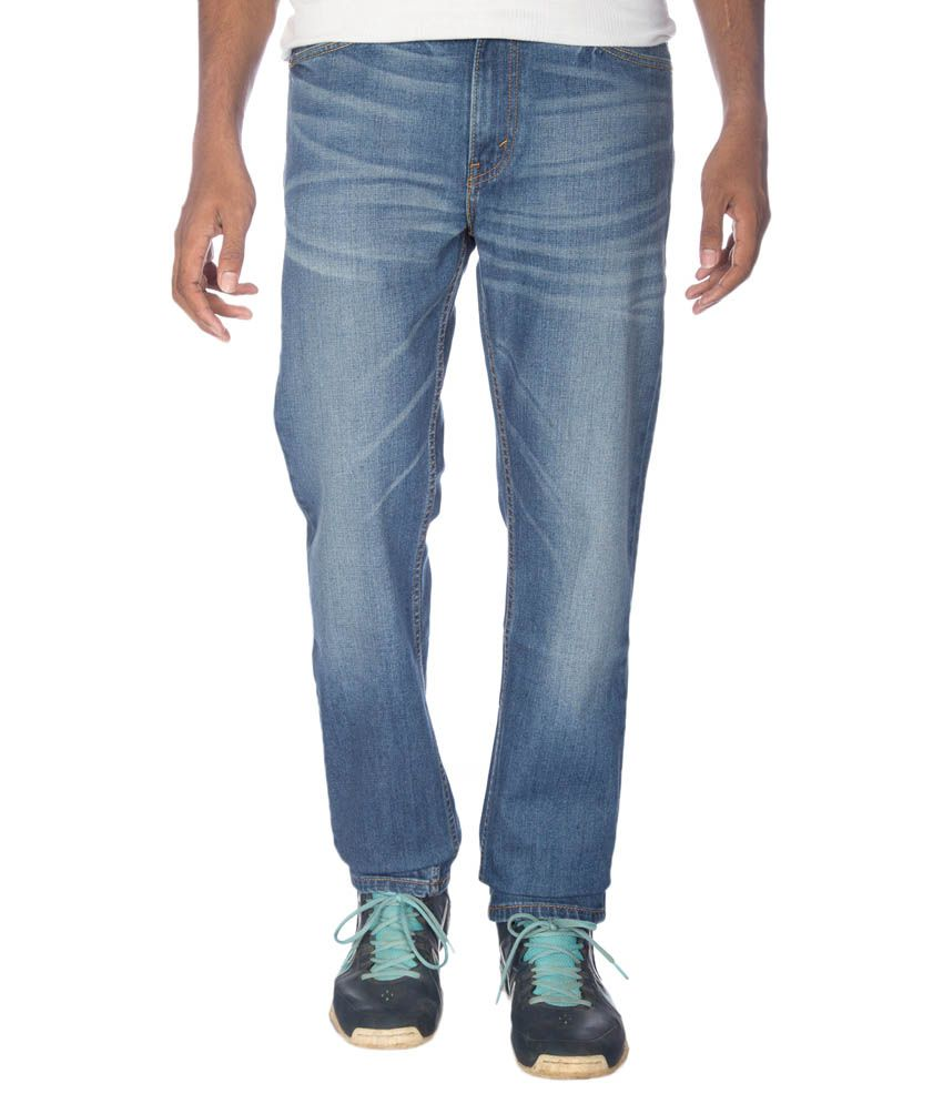 Levi's Blue Regular Fit Faded Jeans