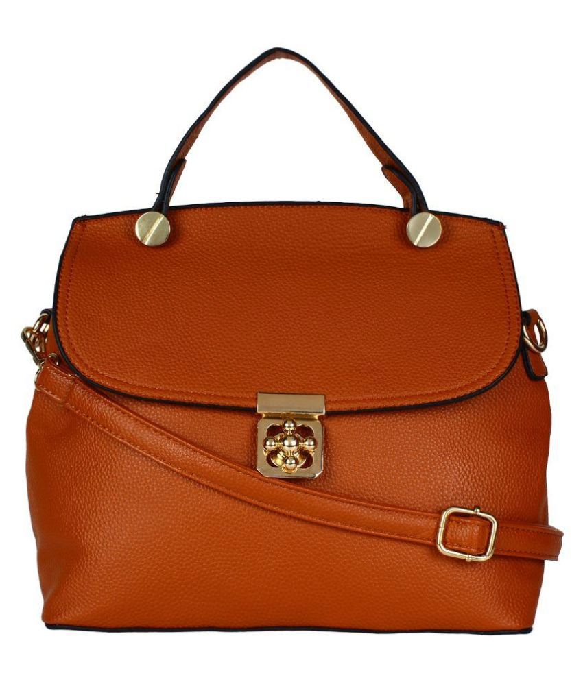 Fashmode Brown Faux Leather Sling Bag