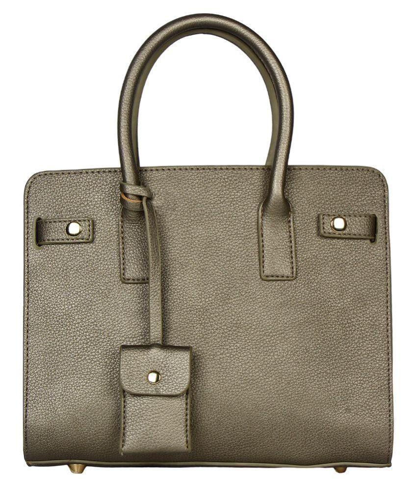 Fashmode Gray Faux Leather Shoulder Bag