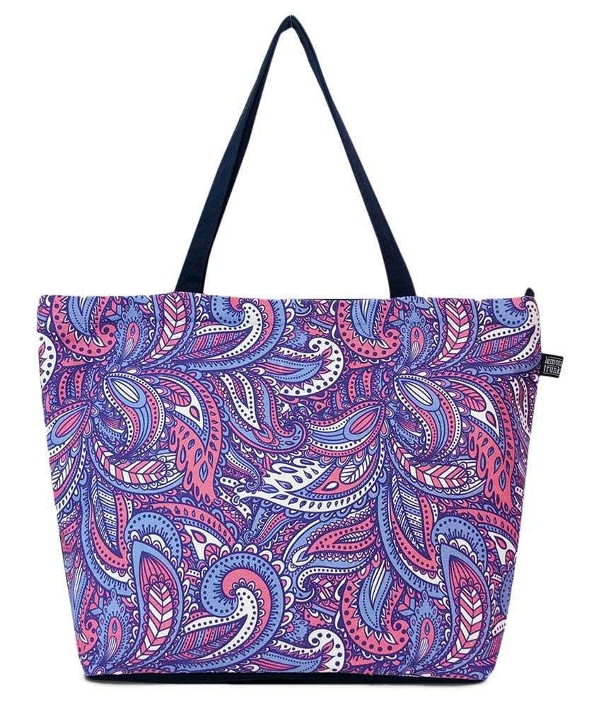 Lemon Trunk Blue Canvas Tote Bag