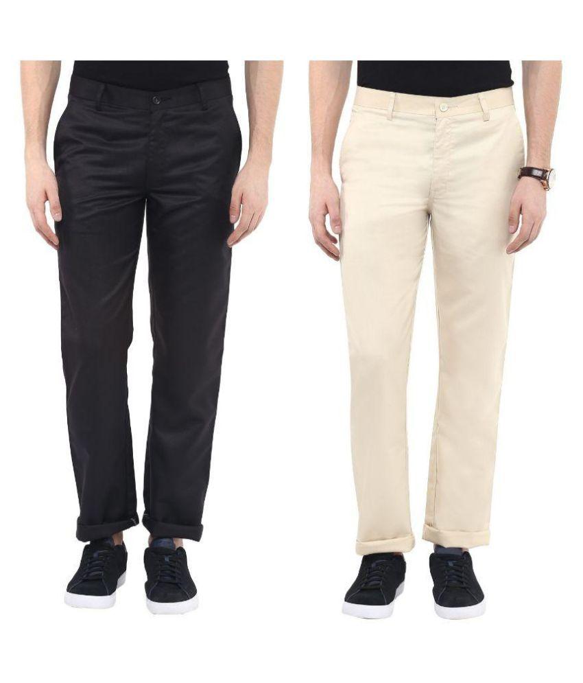 Urbano Fashion Multi Slim Fit Flat Trouser